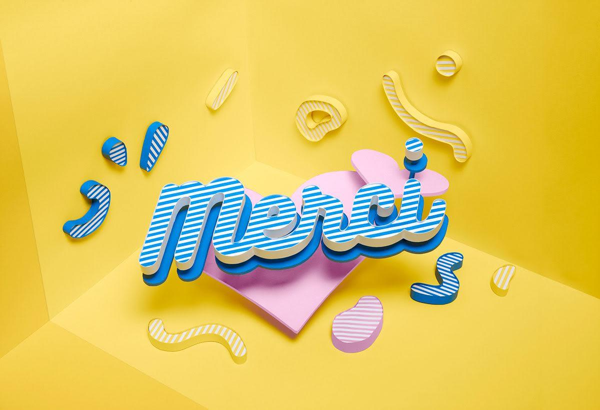 Klaarke Meert Photography Hand Made Paper Craft Project Merci