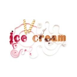 Ice cream paper quilling