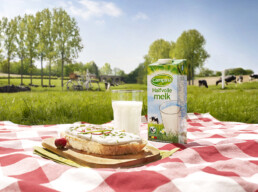 Campina milk advertising photograph
