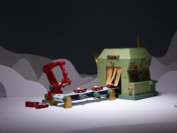 X-mas Factory Paper Stop Motion Klaarke Meert